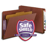 Smead End Tab Pressboard Classification Folder with SafeSHIELD® Fasteners 26855, 1 Divider, 2