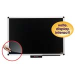 "36"" x 24"" Premium Aluminum Frame Dry-Erase Board with Clear Overlay Black"