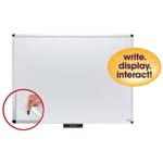 "48"" x 36"" Premium Aluminum Frame Dry-Erase Board with Clear Overlay White"