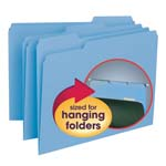 Smead Interior File Folder 10239, 1/3-Cut Tab, Letter, Blue