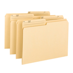 Smead 100% Recycled File Folder 10329, 1/2-Cut Reversible Tab, Letter, Manila