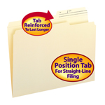 Smead File Folders 10388, Reinforced 2/5-Cut Right Position Printed Tab, Guide Height, Letter, Manila