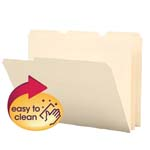 Smead Poly File Folder 10510, 1/3-Cut Tab, Letter, Manila
