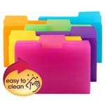 Smead SuperTab® File Folder, 1/3-Cut tab, Letter Size, Poly, 18 per Pack