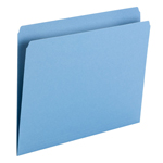Smead File Folder 10935, Straight Cut, Letter Size, Blue, 100 per Box