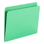 Smead File Folder 10939, Straight Cut, Letter Size, Green, 100 per Box