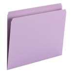Smead File Folder 10940, Straight Cut, Letter Size, Lavendar, 100 per Box