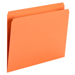 Smead File Folder 10941, Straight Cut, Letter Size, Orange, 100 per Box