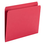 Smead File Folder 10943, Straight Cut, Letter Size, Red, 100 per Box