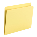 Smead File Folder 10946, Straight Cut, Letter Size, Yellow, 100 per Box