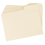 Special Pack of 12 Manila SuperTab File Folders with a sheet of 16 Viewables Labels.  Specifically designed to be used with the Life Documents Organizer Kit.