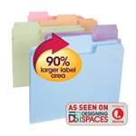 Smead SuperTab® File Folder 11961, Oversized 1/3-Cut Tab, Letter, Assorted Colors
