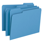 Smead File Folder 12043, 1/3-Cut Tab, Letter, Blue