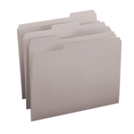 Smead File Folder 12343, 1/3-Cut Tab, Letter, Gray