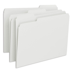 Smead File Folder 12843, 1/3-Cut Tab, Letter, White