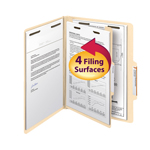 Smead Classification File Folder 13700, Reinforced 2/5-Cut Tab, 1 Divider, 2