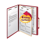 Smead Classification File Folder 13703, Reinforced 2/5-Cut Tab, 1 Divider, 2