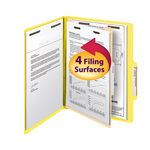 Smead Classification File Folder 13704, Reinforced 2/5-Cut Tab, 1 Divider, 2