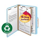 Smead 100% Recycled Pressboard Classification Folder 13721, 1 Divider, 2