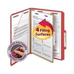 Smead Pressboard Classification Folder with SafeSHIELD® Fasteners 13731, 1 Divider, 2