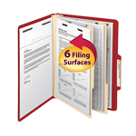 Smead Classification File Folder 14003, Reinforced 2/5-Cut Tab, 2 Dividers, 2