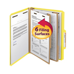 Smead Classification File Folder 14004, Reinforced 2/5-Cut Tab, 2 Dividers, 2