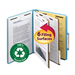 Smead 100% Recycled Pressboard Classification Folder 14021, 2 Dividers, 2