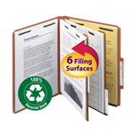 Smead 100% Recycled Pressboard Classification Folder 14054, 2 Dividers, 2