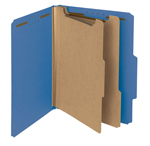 Smead 100% Recycled Pressboard Classification Folder 14062, 2 Dividers, 2