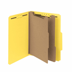 Smead 100% Recycled Pressboard Classification Folder 14064, 2 Dividers, 2