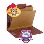 Smead SuperTab® Classification File Folder with SafeSHIELD® Fasteners 14070, 2 Dividers, 2