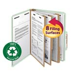 Smead 100% Recycled Pressboard Classification Folder 14093, 3 Dividers, 3