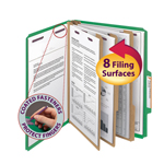 Smead Pressboard Classification Folder with SafeSHIELD® Fasteners 14097, 3 Dividers, 3
