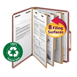 Smead 100% Recycled Pressboard Classification Folder 14099, 3 Dividers, 3
