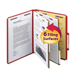Smead Press Guard® Classification File Folder with SafeSHIELD® Fasteners 14202, 2 Dividers, 2