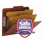 Smead Press Guard® Classification File Folder with SafeSHIELD® Fasteners 14205, 2 Dividers, 2