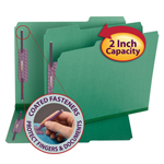 Smead Pressboard Fastener Folder with SafeSHIELD® Fasteners 14938, 2 Fasteners, 1/3-Cut Tab, 2