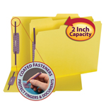 Colored Pressboard Fastener Folders with SafeSHIELD® Fasteners