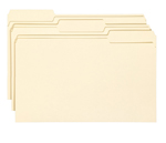 Smead File Folder with Antimicrobial Product Protection 15338, 1/3-Cut Tab, Legal, Manila