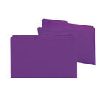 Smead Reversible File Folder 15378, 1/2-Cut Printed Tab, Legal, Purple