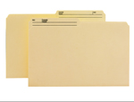 Smead WaterShed®/CutLess® File Folder 15390, 1/2-Cut Tab, Legal, Manila