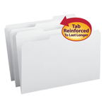 Smead File Folder 17834, Reinforced 1/3-Cut Tab, Legal, White