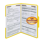 Smead Fastener File Folder 17940, 2 Fasteners, Reinforced 1/3-Cut Tab, Legal, Yellow