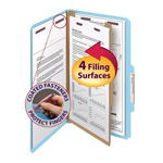 Smead Pressboard Classification Folder with SafeSHIELD® Fasteners 18730, 1 Divider, 2