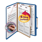 Smead Pressboard Classification Folder with SafeSHIELD® Fasteners 18732, 1 Divider, 2