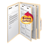 Smead Classification File Folder 19000, Reinforced 2/5-Cut Tab, 2 Divider, 2