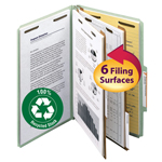 Smead 100% Recycled Pressboard Classification Folder 19022, 2 Dividers, 2