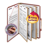 Smead Pressboard Classification Folder with SafeSHIELD® Fasteners 19092, 3 Dividers, 3