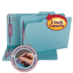 Smead Pressboard Fastener Folder with SafeSHIELD® Fasteners 19937, 2 Fasteners, 1/3-Cut Tab, 2