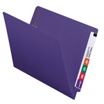 Smead End Tab Fastener File Folder 25440, Shelf-Master® Reinforced Straight-Cut Tab, 2 Fasteners, Letter, Purple